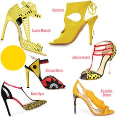Spring 2014 Shoe Trends - ShoeRazzi Freesia is the color of electric citrus, and where placid blue is a blue sky, freesia is the smoldering sun.