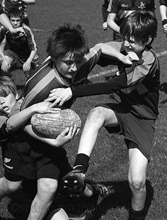 haha how to rugby tackle everyone.
