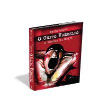 Desenvolvi a arte deste suspense, - O grito vermelho - com uma ilustração, e, como o livro trata de assassinatos, casos de detetives e policiais, compuz com cores fortes e imagens chocantes, escolhi também uma fonte marcante.