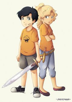percabeth as awkward 12-year-olds in the lightning thief :P