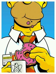 homer simpson (art by joshua budich) Homer Simpson, Simpson Art, Lisa Simpson, Ferris Bueller, Cultura Pop, The Simpsons, Tableau Pop Art, Illustrator, Fan Art