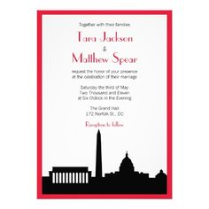 ShoppingDC Skyline Wedding Invitation - Red Borderin each seller & make purchase online for cheap. Choose the best price and best promotion as you thing Secure Checkout you can trust Buy best