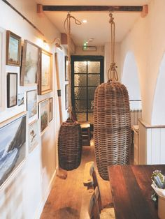 The Ferry Boat Inn: 15 Ideas to Steal from a Seaside Pub in Cornwall - Remodelista Next Living Room, Seaside Art, Painting Lamp Shades, Ferry Boat, Weekend House, Park Homes, Cornwall, Ceiling Lights, Rustic