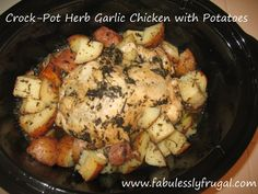 Crock-Pot Herb Garlic Chicken with Potatoes | Fabulessly Frugal: A Coupon Blog Sharing Gift Ideas, Black Friday Ads, Printable Coupons, DIY, How to Extreme Coupon, and Make Ahead Meals