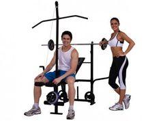 Aparelho de Musculação c/Torre e Crucifixo Polimet - Trabalha Músculos Superiores e Inferiores com as melhores condições você encontra no Magazine 233435antonio. Confira!
