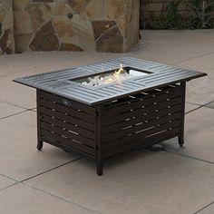 40,000 BTU Firepit Table Cover Lpg Gas Outdoor Fireplace Propane Heater Patio