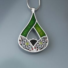 Ivy Woodrose Fig sterling silver pmc and resin by ivywoodrose