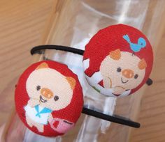 Hair Bands  Cute Fabric and Cover Buttons