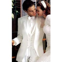Custom Men White Dress Clothes Suits Tuxedos for Wedding Prom SKU-123007