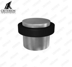 Floor Mounted Cylinder Doorstop with rubber ring diameter, high. Timber Door, Rubber Rings, Doorstop, Industrial, Flooring, Mugs, Tableware, Dinnerware, Tumblers