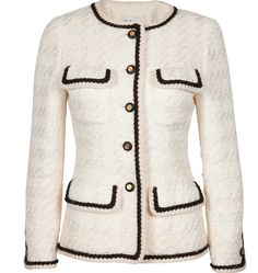 Channel inspired jacket this has both of the pockets people choose to have