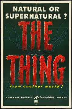 "Movie Posters:Science Fiction, The Thing from Another World (RKO, 1951). One Sheet (27"" X 41"").Science Fiction.. ... Image #1"