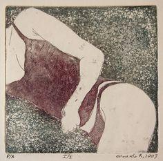 "Saatchi Online Artist: Eduardo Bessa Rodrigues; Engraving 2003 Printmaking ""She"""