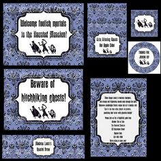 etsy Haunted Mansion Halloween party invites & paper goods.  Everything you need for a haunting good time!