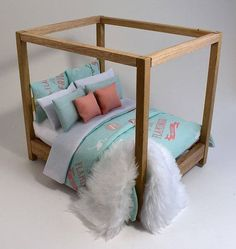 barbie furniture Bunk Bed wooden DOLLHOUSE Furniture miniature self-production kit scale - Barbie House Furniture, Modern Dollhouse Furniture, Wooden Dollhouse, Diy Dollhouse, Doll Furniture, Victorian Dollhouse, Painted Furniture, Furniture Sets, Mini Doll House