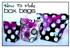 "Creative ""Try""als: How to Make Box Bags"