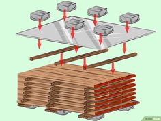 How to Cure Wood: 13 Steps (with Pictures) - wikiHow Rough Sawn Lumber, Wood Lumber, Lumber Mill, Wood Mill, Woodworking Wood, Woodworking Projects, Solar Kiln, Post And Beam, Kiln Dried Wood