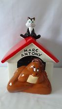 Warner Brothers 1995 Marc Anthony Dog And Pussyfoot The Cat Cookie Jar #G441