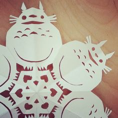 Detail of Totoro snowflake. Miyazaki by ericnakamura - wow, clever!