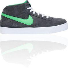 23c8a8b93 Nike 6.0 Mavrk Mid 2 Grey   Green Suede Skate Shoe -  69.95