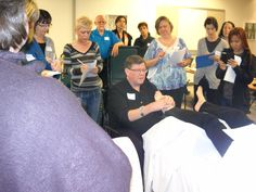 Paul showing PNF work so helpful for some chronic conditions Ear Reflexology, Northern California, Conference, Oregon, Workshop, Training, Ideas, Atelier, Work Shop Garage