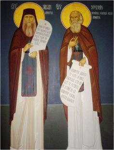 Sfântul Siluan Athonitul și ucenicul său Cuviosul părinte Sofronie Saharov - full screen