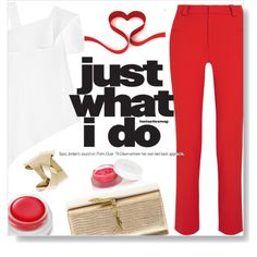 Red001 (Top Fashion Set for February 12) by dorachelariu on Polyvore featuring polyvore, moda, style, Roland Mouret, Yves Saint Laurent, rms beauty, fashion and clothing