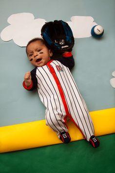 Baby photography baseball jaxson 3 months old