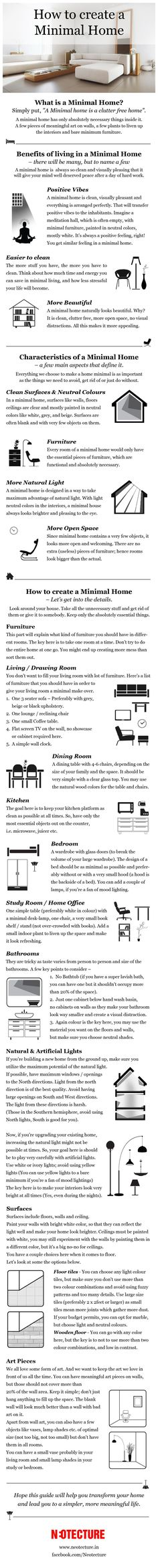 Update the design and arrangement of your home with the help of this useful minimalistic guide.