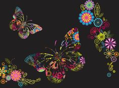 FreeVector-Flowers-And-Butterflies-Background.jpg (1024×765)