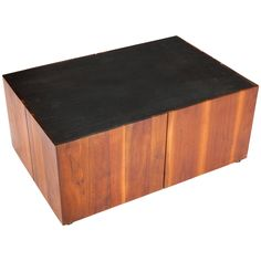 Walnut And Slate Coffee Table By Phillip Lloyd Powell | From a unique collection of antique and modern coffee and cocktail tables at https://www.1stdibs.com/furniture/tables/coffee-tables-cocktail-tables/