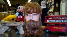 Transport for London's Baker Street lost property. A hairdressing mannequin head is among the more unusual objects to be found at Transport for London's lost property office.