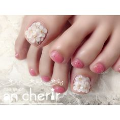 ネイルデザインを探すならネイル数No.1のネイルブック Pedicure, Nails, Beauty, Design, Natural Gel Nails, Feet Nails, Finger Nails, Pedicures, Ongles