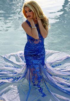 #22. Dream of being out in the deep blue sea! Jovani 24551