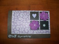 First Scrapbook card I attempted