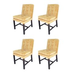 Set of Four Dining Chairs by Harvey Probber for Directional | From a unique collection of antique and modern dining room chairs at https://www.1stdibs.com/furniture/seating/dining-room-chairs/