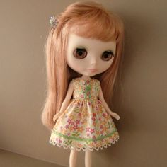Orange and Pink Floral Summer Dress for Blythe by myfairdolly, $14.00