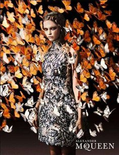 Alexander McQueen Spring Summer 2011 butterfly-filled ad campaign