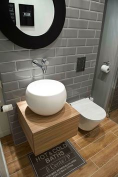 Best Scandinavian Bathroom Ideas You Should Know - Gäste WC - Bathroom Decor Modern Bathroom Design, Bathroom Interior Design, Bathroom Toilets, Small Bathroom, Bathroom Sinks, Bathroom Ideas, Bathroom Updates, Bathroom Lighting, Ideas Baños