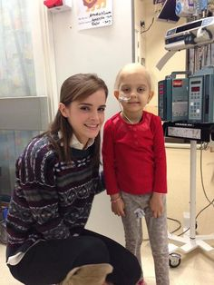 NEW/OLD two pictures of Emma Watson with Maya at the Great Ormond Children's Hospital,last year.