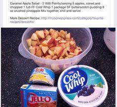 Carmel Apple Dessert Salad Got this on FB... This is amazing!!!