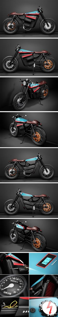 """Welcome the Honda Model Electric Cafe Racer 1 – designed with the brand's vision in mind, """"Protection,"""" """"Design,"""" """"Useful."""" Built with the Honda 125cc Cafe Racer body in mind, with an electric motor, the bike won't have the classic beauty of the engine exposed, but that doesn't mean it won't be beautiful. Replacing the petrol tank is the small backlit display for the battery levels, voltage, and energy."""