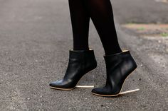 L'extravagance: Maison Martin Margiela for H Plexi Wedge Boots