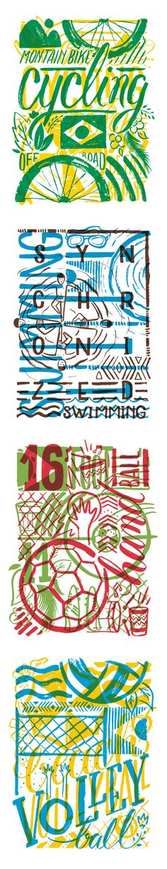 By Cristina Pagnoncelli - Illustrated graphics for WSGN inspired by 2016 Olympics in Rio.