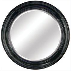 Yosemite Round Round Black Framed Mirror - YMW003G