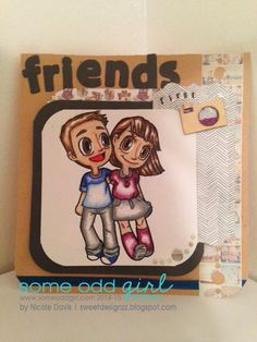 Some odd girl friends project. Digital stamped image.