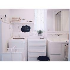 Bathroom/シンプル/白黒/モノトーン/ホワイトインテリア/マイホーム...などのインテリア実例 - 2016-11-26 16:37:28 | RoomClip (ルームクリップ)