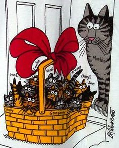 A basket full of joy. Kittens! Time to adopt a pet or two...