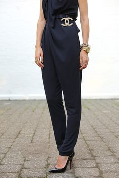 jumpsuit and Chanel