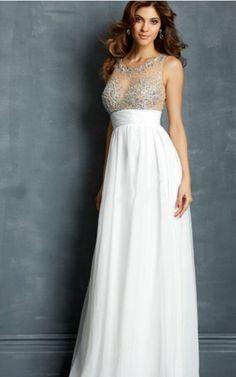 Zipper Floor-length Natural A-line Chiffon Formal Dresses afea7718
